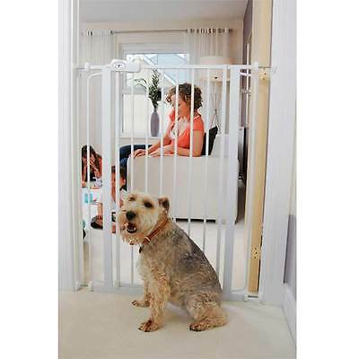 Bettacare Pet Gate White Stair Safety Room Divider Pinch-free Hinge Mountable