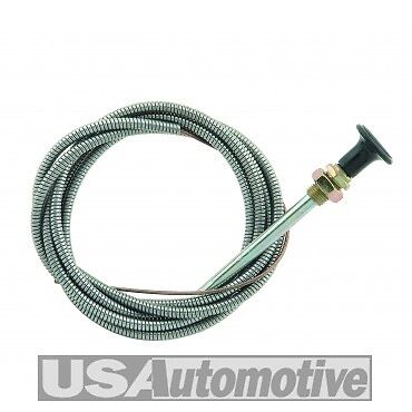 """Mr Gasket #2078 72"""" Inch 6 Foot Universal Choke Cable 3/8"""" Mounting Hole"""