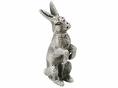 Sterling Silver 'Hare' Pepperette - Antique Victorian