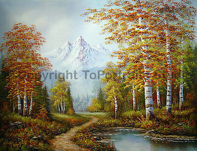 """Switzerland Mountainscape, Original Scenery Oil Painting on Canvas, 34"""" x 26"""""""