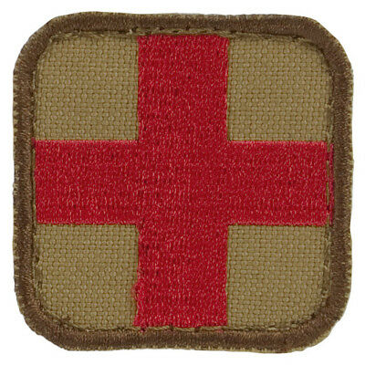 Condor Tactical Paramedic Medical Medic Morale Patch Coyote Tan Red Cross