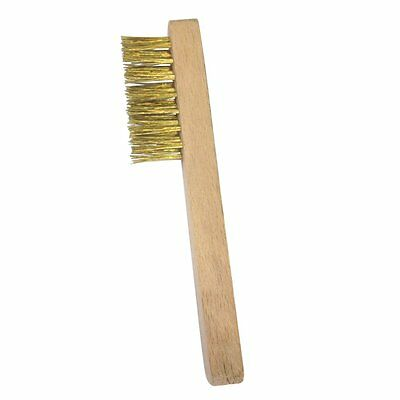 New Brass Wire Brush For Cleaning Spark Plugs Suede Shoes Battery Terminals