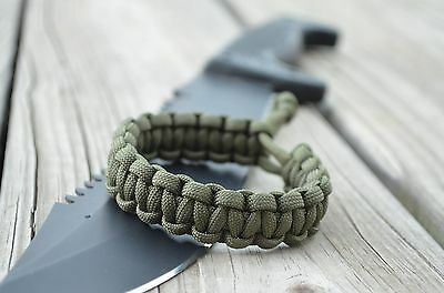 Mad Max Fury Road Tom Hardy design Paracord Adjustable Bracelet - OD GREEN