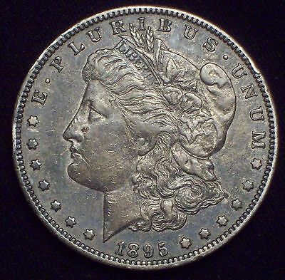 1895 O Morgan SILVER Dollar KEY DATE Authentic XF+ Detailing Dark Toned Coin $1