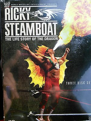 (NEW) WWE Ricky Steamboat The life story of The Dragon  (3-Disc DVD)