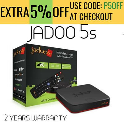Jadoo 5 Android Box Live Channels India Afghanistan Pakistan Iran 4K Ultra HD