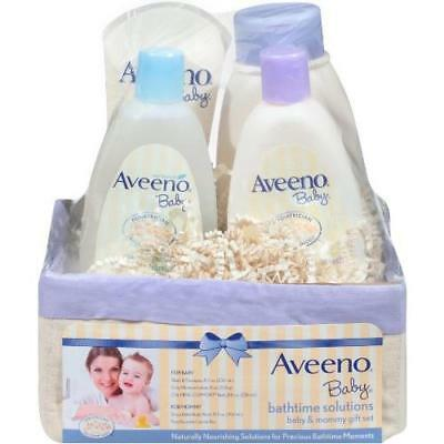 Aveeno Baby Daily Bath Time Solutions Gift Set To Prevent Dry Skin New