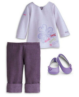"NEW American Girl 2010 Meet Set Real Me Outfit For 18"" Luciana Isabelle Dolls"