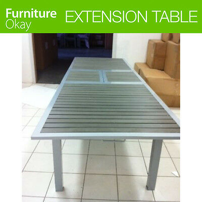 1pc Single Aluminium Wood Slats Outdoor Dining Garden Furniture Extension Table