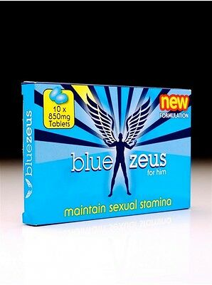 Blue Zeus Natural Male Herbal Sexual Performance Enhancer Supplement 10 X 850mg