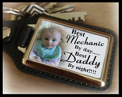 Personalised keyring, best mechanic and best Daddy, birthday christmas gift.