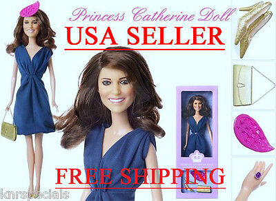 """Royal Wedding Princess Catherine """"Kate"""" Engagement Doll by ARKLU 12 inches tall"""