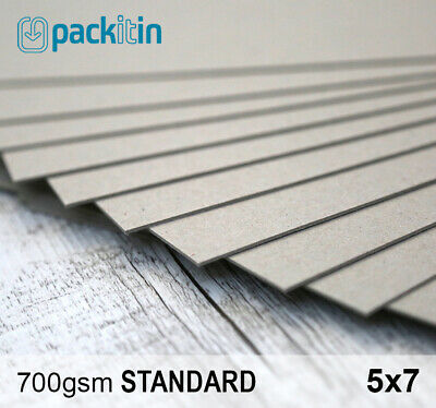 """5x7"""" Backing Boards - 50 sheets 700gsm - chipboard boxboard cardboard recycled"""