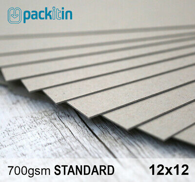 "12x12"" Backing Boards - 25 sheets 700gsm - chipboard boxboard cardboard recycled"