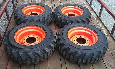 4 NEW 10-16.5 Skid Steer Tires/wheels/rims 12 PLY - for Bobcat & others-10X16.5