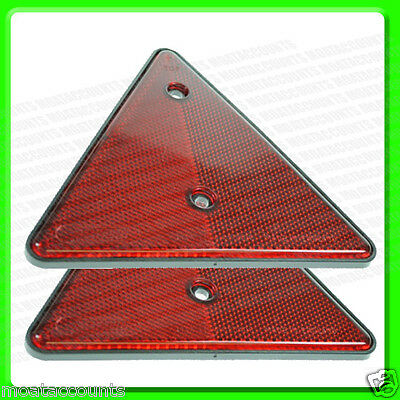2 x Red Triangle Reflectors [MP16] Screw Type Reflectives 140 mm Tall [EQ138]