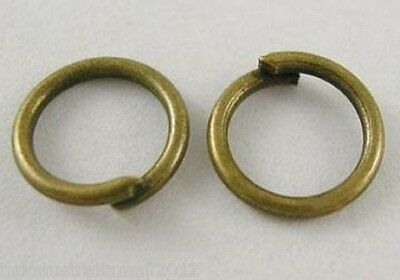 500 Pcs Antique Bronze Plated BRASS STRONG Open Jump Rings 5mm Dia (JRC5MM-AB)