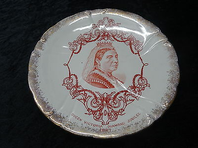 Plate Issued for Queen Victoria Diamond Jubilee in 1897 - Transfer Decorated