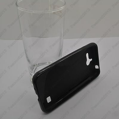 Black S-Types TPU Silicone CASE Cover For Huawei Ascend Y550