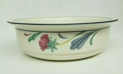 """Lenox Chinastone """"Poppies On Blue"""" 6 1/4"""" Soup/Cereal Bowl(S) - Excellent"""