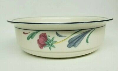 "Lenox Chinastone ""poppies On Blue"" 6 1/4"" Soup/cereal Bowl(S) - Excellent"