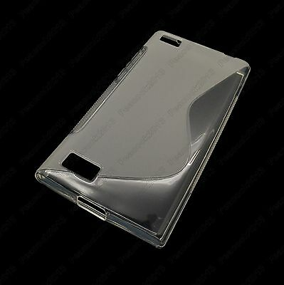 Transparent S-Types TPU Silicone CASE Cover For BlackBerry Leap