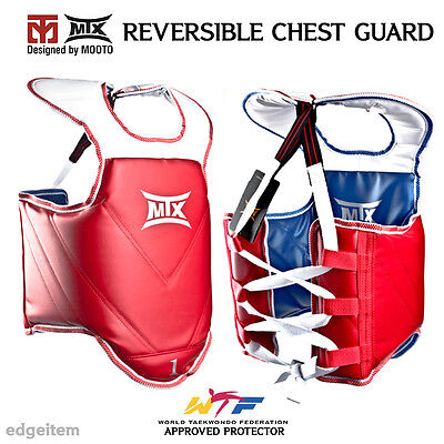 MOOTO MTX TaeKwonDo Reversible Chest Guard WTF / CE / KTA Approved Protector