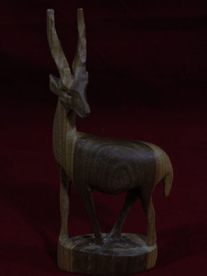 Vintage Hand carved Wooden African Animal Gazelle Giraffe Made n Kenya Africa B4