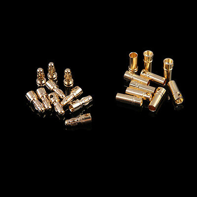 20x 10 Pairs RC Motor 3.5mm Male/Female Gold-plated Bullet Banana Plug Connector