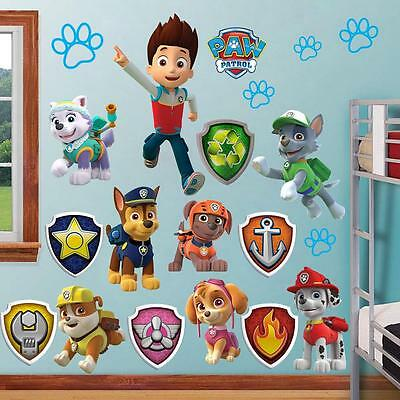 Huge Paw Patrol Wall Stickers Kids Decor Removable Decal Decals Art Sticker Home