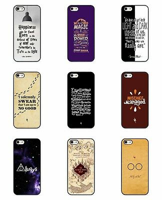 Harry Potter Inspired Happiness Magic Always Quote Map Rubber Case Cover iPhone