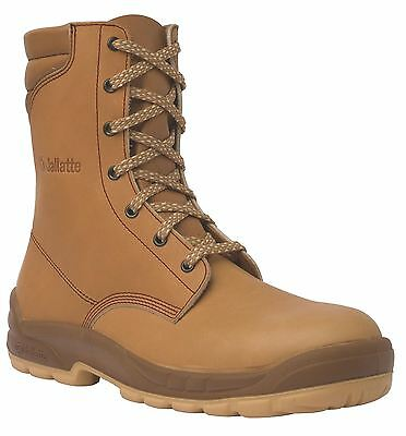 Jallatte J0662 Jalosbern High Mens Leather Steel Toe Rigger Lace Tan Brown Boots
