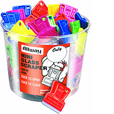 Allway Gsm100 Mini Glass Scraper Uncarded Bucket Pk 1/100