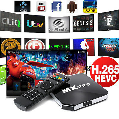 MX Pro Android TV Box Quad Core 8G Smart Fully Loaded Network Streamer AH11