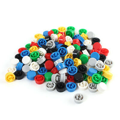 140x Rund Tactile Taste Caps Push Button Kit für 12 × 12 × 7,3 mm Tact Switche