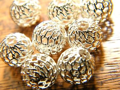 Sterling Silver Filligree Bead 8mm 2 Hole -Spacer Beads-Findings-Beadsmith .925