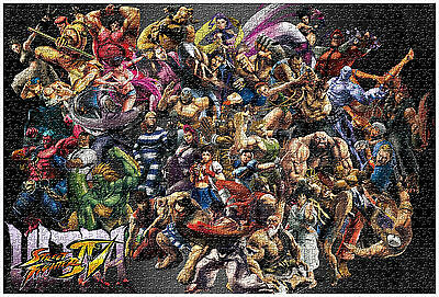 Street Fighter Jigsaw Puzzle Characters Ken Ryu Home Decor HUGE 1000 Pcs puzzles