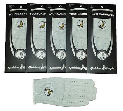 New 4 Pack 100% Cabretta Leather Golden Eagle Golf Glove Right Hand Extra Large