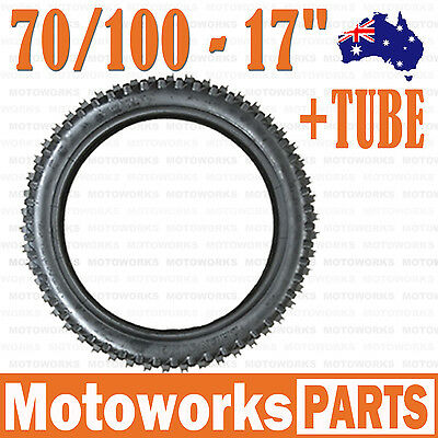"70/100 - 17"" inch Front Knobby Tyre Tire + Tube PIT PRO BIGFOOT Trail Dirt Bike"