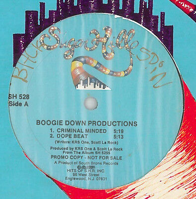 "Boogie Down Productions • Criminal Minded 12"" MEGA RARE SUGAR HILL PRESSING"