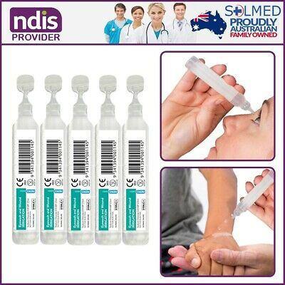 20 X FIRST AID EYE WASH AND WOUND IRRIGATION AMPS 15ml