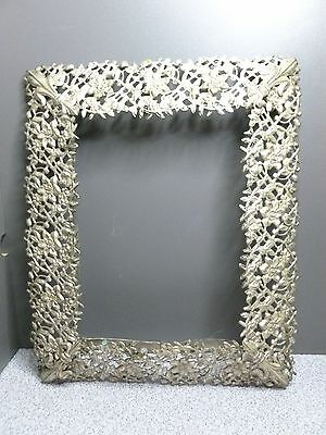 vintage metal ornate silver tone frame for 5 12 x 3 7