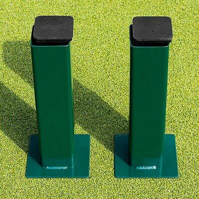 SQUARE Tennis Post GROUND SOCKETS (x2) [Net World Sports]