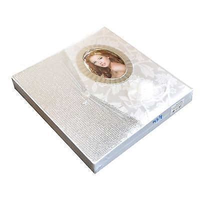 20 Page Luxury Wedding Photo Album Gift Present Large Ivory 8In X 10In  Al-02