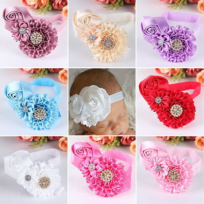 Hot Baby Headband Newborn Toddler Flower Girl Lace Christening Hair BandOK