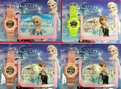 New 12Pcs Princess Wristwatch watch and Purses Wallets Children Party Gift L87