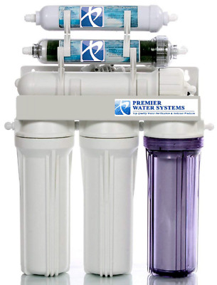 Reverse Osmosis Water Filter System 2 OUTLET DI/RO 150 GPD Drinking/Aquarium NTF