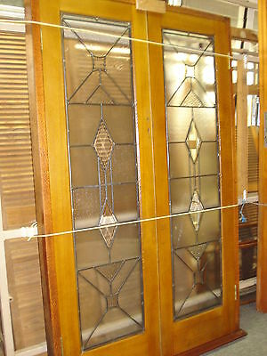 Silky Oak 1930's French Door w/ Timber Reveal - (W)1300 (H)2085 - $1850.00