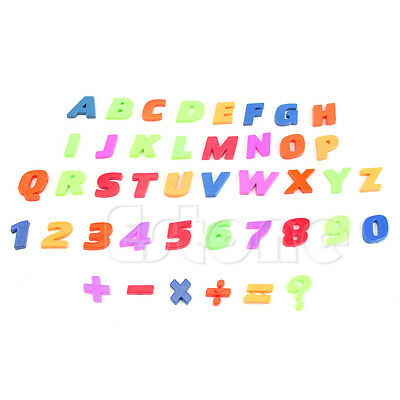 Magnetic Fridge Magnets Alphabet Letters & Numbers Teaching Set Of 42 Colorful