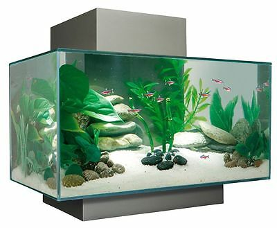 Fluval Edge Aquarium Fish Tank Silver (Pewter) 23L